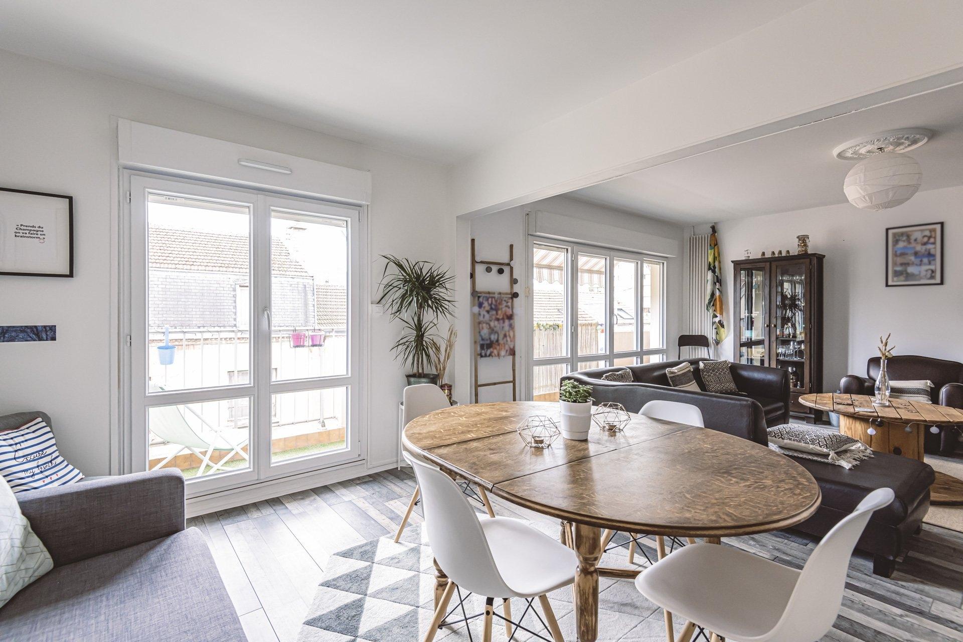 Appartement Reims 3 Pièces 68.3 m2 - Balcon - 2